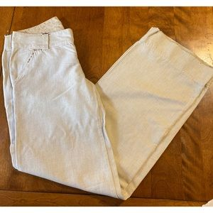 Vintage Free People White Striped Pants